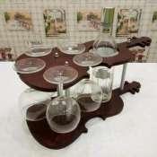 Подставка для бокалов и вина скрипка