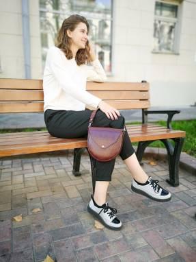 Дизайнерская сумка из натуральной кожи ручной работы