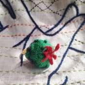 Колечко-кактус. Объемное кольцо с ручной вышивкой