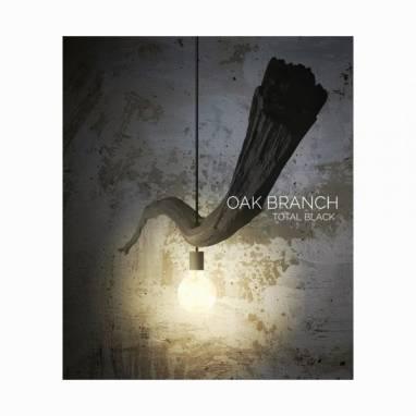 Oak branch light (total black) #1 ручной работы