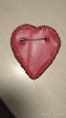 Брошь Сердце ручной работы