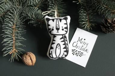 Игрушка на елку Тигр  ручной работы