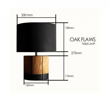 Oak flaws (table laps) #21 ручной работы