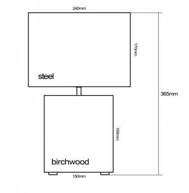 Light #5 (birchwood and steel) ручной работы