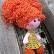Вязаная кукла Уля