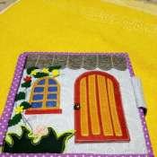 Книжка из фетра и ткани. Кукольный домик.