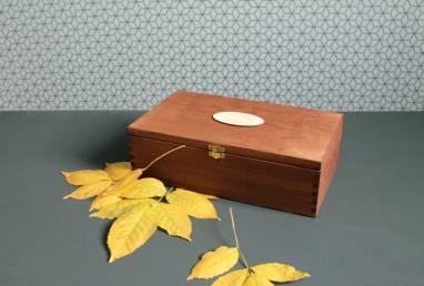 Коробка деревянная для вина ручной работы