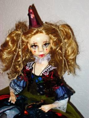 Авторская кукла Клоунесса Веста ручной работы