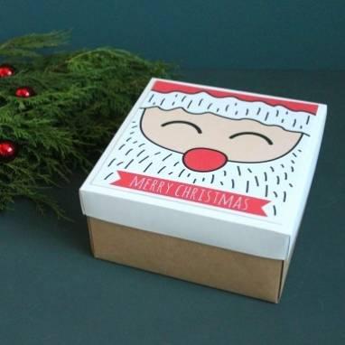 Новогодняя коробка ручной работы