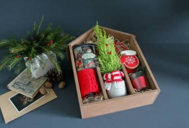 VIP подарок к новому году в деревянной коробке ручной работы