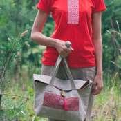 Льняная женская сумка