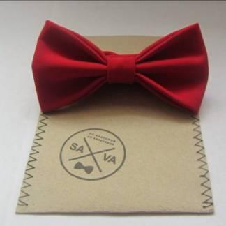 Красный женский галстук-бабочка