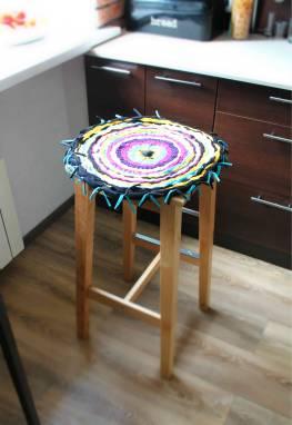 коврик на стул ручной работы