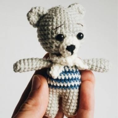 Вязаная игрушка Мишка Тедди ручной работы