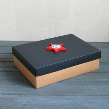 Большая подарочная коробка для мужчин к 23 февраля ручной работы