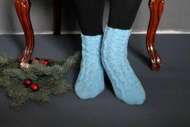 Носочки женские ажурные ручной работы