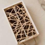 Деревянная коробка для двух бутылок вина