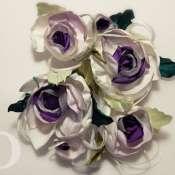 Cвадебные цветы для декора невесты из ткани