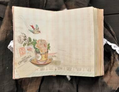 Винтажный блокнот с розами ручной работы