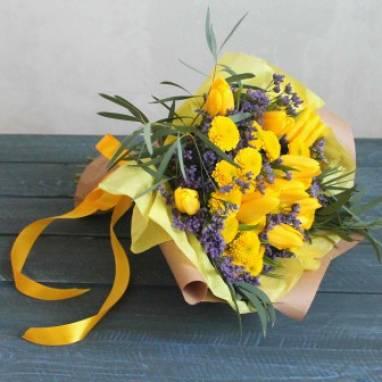 Тюльпаны к 8 марта ручной работы