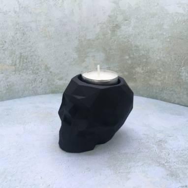 Органайзер полигональный череп черный ручной работы