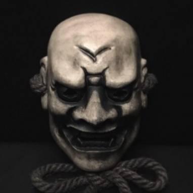 Японская маска Но Шиками Shikami ручной работы