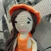 Вязаная кукла Мандаринка
