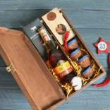 Подарок для мужчины в деревянной коробке