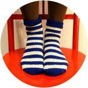 полосатые вязанные носки