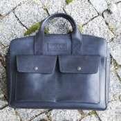 Мужская сумка из натуральной кожи для документов и ноутбука