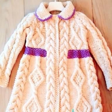 Пальто для девочек ручной работы