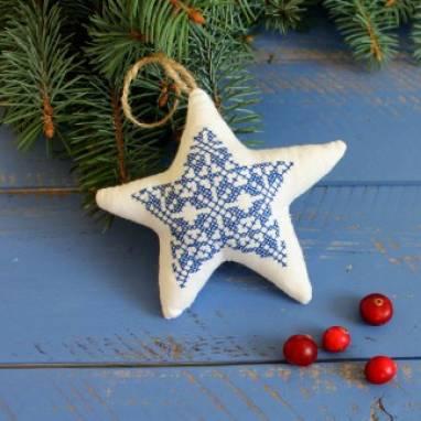"""елочная игрушка """"рождественская звезда"""" ручной работы"""