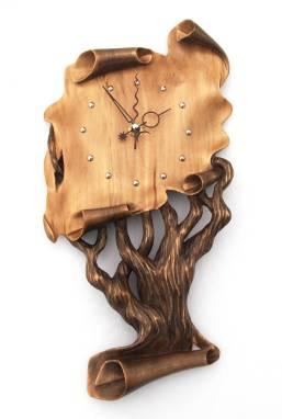 """Авторские деревянные часы """"Генеалогическое Древо"""" ручной работы"""