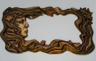 Резная рама под зеркало ручной работы ручной работы