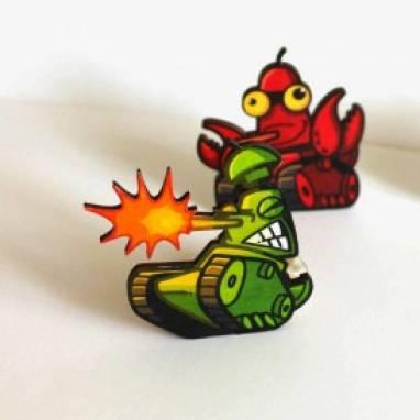 мультяшный танк магнит world of tanks ручной работы