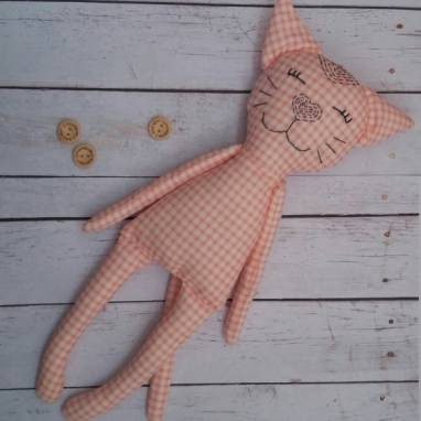Котик текстильный ручной работы