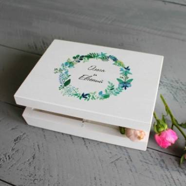 Коробочка для колец на свадьбу ручной работы
