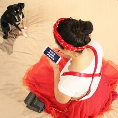 Разгрузка фотографа кожаная на 2 камеры (Red) ручной работы