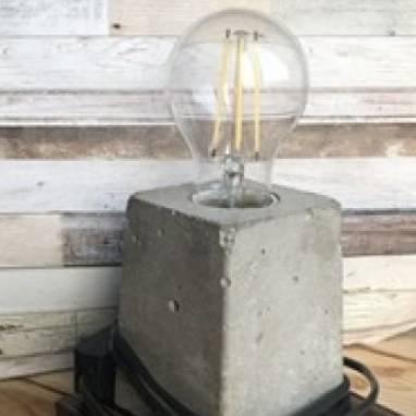 Светильник из бетона в стиле ЛОФТ ручной работы