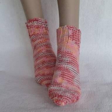 """Носки -домашняя обувь """" Розовый закат"""" ручной работы"""