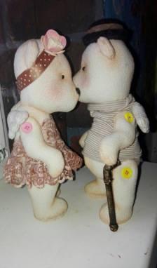 Мишки влюбленная пара ручной работы