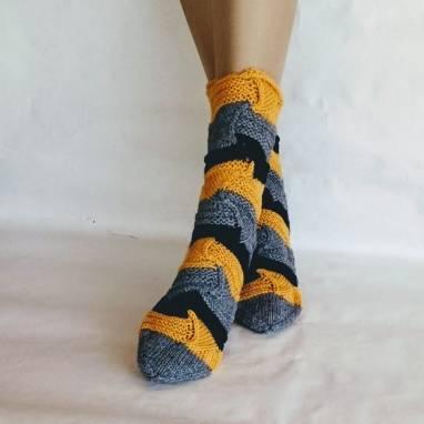 """Женские вязаные носки """" Миссони """" Носочки - домашняя обувь  ручной работы"""