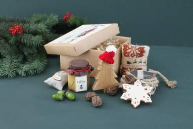 Подарочный набор с медом и чаем ручной работы