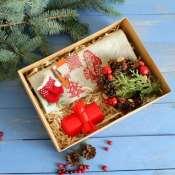 Подарок новогодний с вышивкой