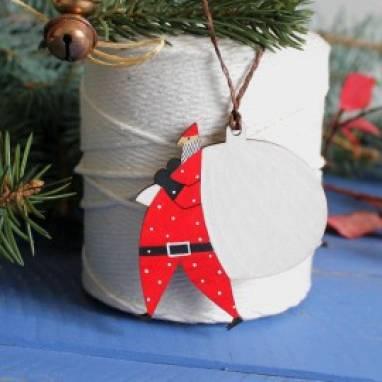 """новогодняя игрушка на елку """"дед мороз"""" ручной работы"""