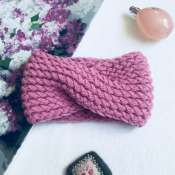 Объёмная повязка-чалма «Розовое настроение»