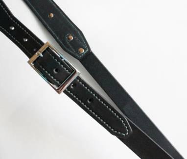 Разгрузка фотографа кожаная на 2 камеры (black, st) ручной работы