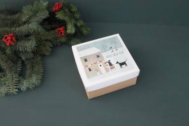 Новогодняя подарочная коробка ручной работы