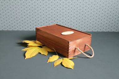Деревянная коробка для вина с логотипом ручной работы