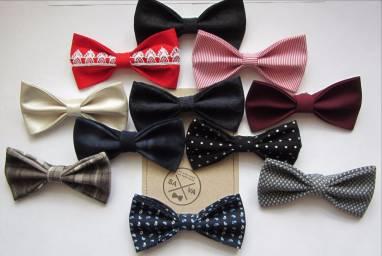 Школьные галстуки бабочки ручной работы